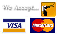 We Accept Interac Mastercard Visa